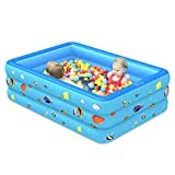 Rikey Inflatable Swimming Pool,Swim Center Family Lounge Inflatable Pool,Thickened Three-Layer Durable Safe Family Large Paddling Pool Durable for Children Adults Babies