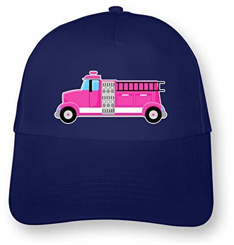 Samunshi Kinder Kappe Pinke Feuerwehr Feuerwehrauto Feuerwehrwagen Junior Original 5 Panel Cap OneSize royal blau/Farbiger Aufdruck