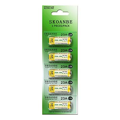 SKOANBE 5PCS A23 23A 12V E23A MN21 MS21 V23GA Alarm-Remote Primary Dry Alkaline Battery