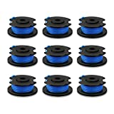 Biowow 9 Pack 0.065 String Trimmer Line and Spool Replacement for Ryobi One+ AC14RL3A Fit 18V, 24V,40V Single Line Trimmers 11ft