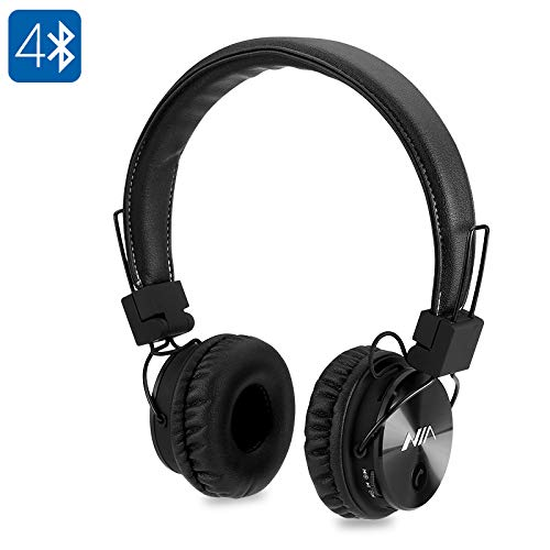 Generic NIA X3 Bluetooth Headphones - 40mm HD Drivers, FM Radio, SD Card Slot, Wireless Headphones
