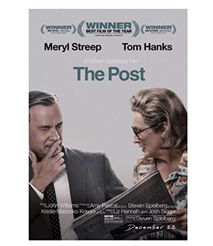 The Post Movie Actor Meryl Streep Poster Art Poster Obra de Arte Impresa en lienzo-50x70cm Sin Marco