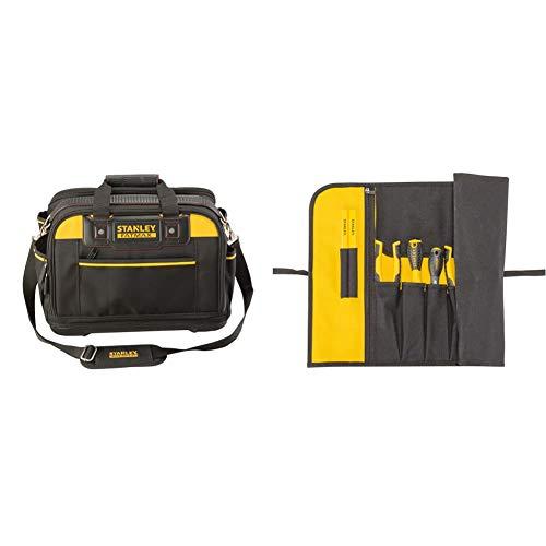 STANLEY FATMAX FMST1-73607 Bolsa para herramientas de múltiple acceso, estructura rígida43 x 28 x 30 cm + 1-93-601 Estuche para herramientas enrollable