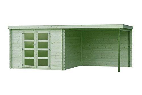 Fonteyn Gartenhaus/Blockhütte Vera Flachdach 560x300 cm Hochdruck Imprägniert