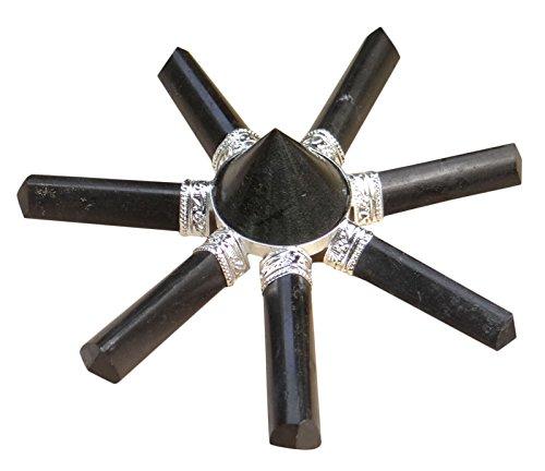 Harmonize Schwarzer Turmalin Pyramide Heilige 7 Punkte Reiki Healing Kristall Göttliche Energie-Generator