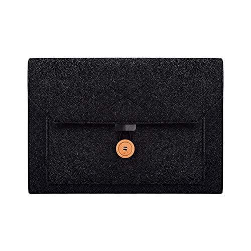 dayday Hochwertiges Licht und schön Hochwertige ND06 Multifunktions-Filzknopf-Laptop-Innentasche for 13,3-Zoll-Laptop (schwarz) (Color : Black)