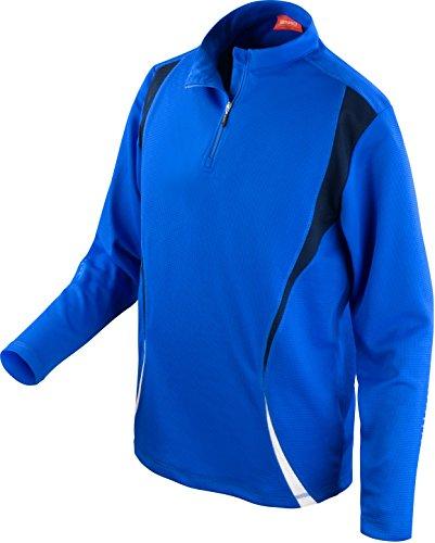 Spiro pour Homme d'essai d'entraînement Tops Large Bleu Marine/Blanc