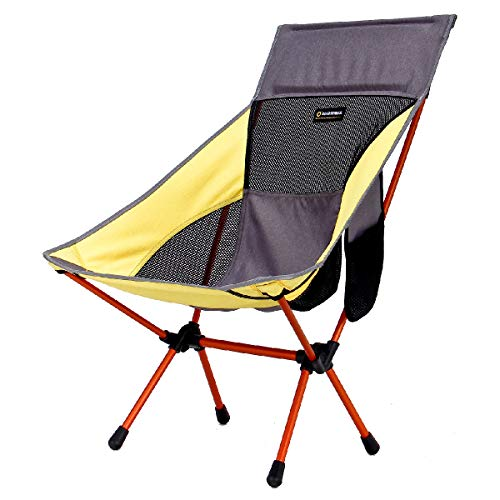 TRIWONDER Camping Stuhl Ultraleicht Portable Folding Backpacking Stuhl für Outdoor Camp, Reisen, Strand, Picknick, Festival, Wandern (Gelb)