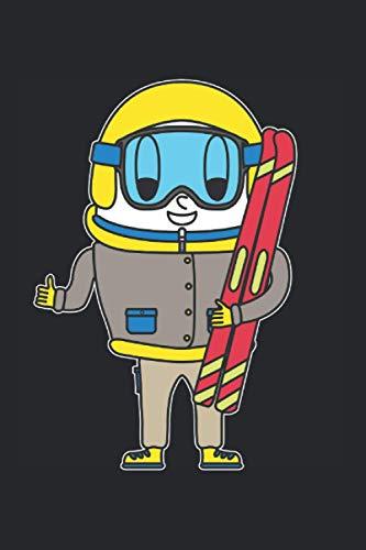 Skifahrer's Notizbuch: 120 weiße Seiten gepunktet | blanko mit Punkten punktiert | 15.24 x 22.86 cm (6