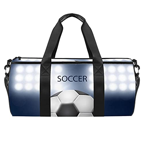 Borsone sportivo da palestra, borsa da danza media, leggera, resistente, per palestra e da viaggio durante la notte, Calcio Erba 2, 45x23x23cm,