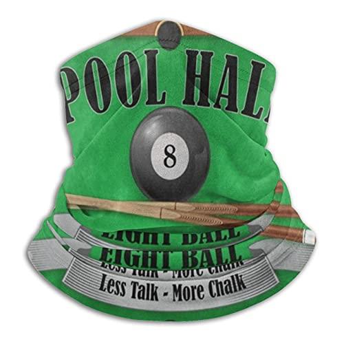 ewretery Póster de billar Pool Hall 8 Ball Máscara facial Bandanas para polvo, al aire libre, festivales, deportes