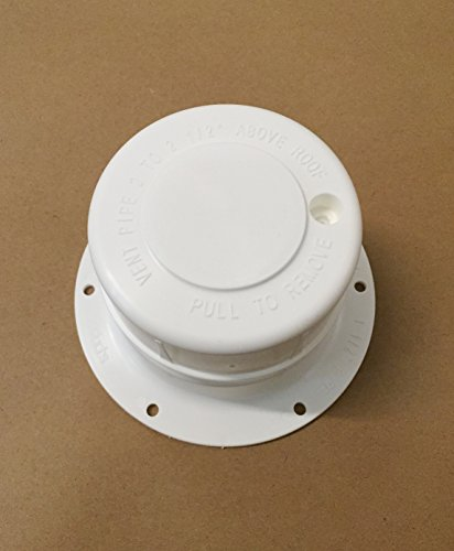 Autmotive Authority White Plastic Attic/Plumbing Vent Cover 1-1/2