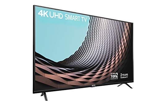 """TCL 43DP628 43"""" Smart TV – 2 Year Warranty,4K HDR10 & HLG (Stream Freeview Play / BBC iPlayer / Netflix 4K / YouTube 4K) ,Work with Alexa, Connectivity & Wi-Fi Sharing (T-Cast), 2*HDMI, 1*USB Port"""