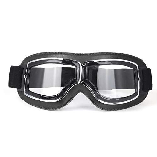 Frieed Motocross Goggles Casco Piloto Scooter Retro Motorycl Outdoor Dirt Bike Montar Vintage Gafas de Sol Gafas Durable (Color : #1)