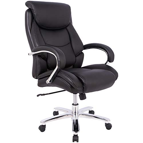 Amazon Basics Big & Tall Executive, Adjustable, Swivel Office Chair with...