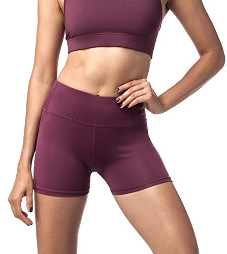 LAPASA Damen Sport Kurz Leggings, Yoga Tights Shorts, Blickdicht Figurformend Übergroße Stretch, 1 bis 2 Pack, mit Tasche L09