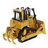 Bleyoum Vehículo de construcción Diecast D6r Tractor Tipo Oruga Dozer Vehículo De Construcción En Stock Coleccionable DM 1/64 Aleación 85607 Modelo De Juguete De Coche para Ventiladores