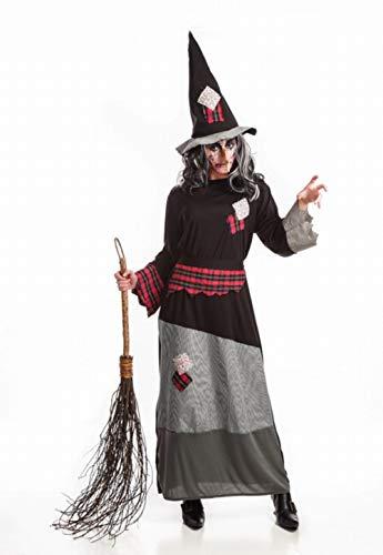 Disfraz de Bruja con parches para mujer
