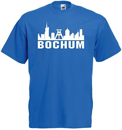 Bochum Herren T-Shirt Skyline Ultras Fan Blau XXL