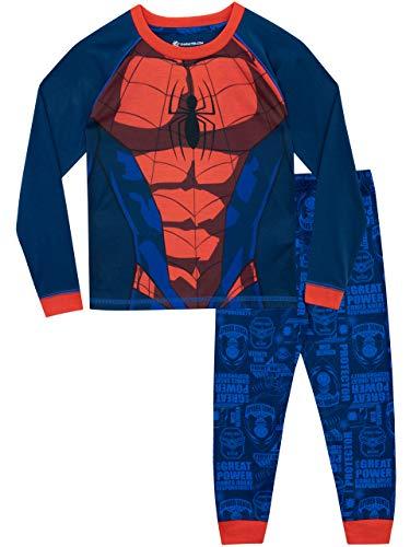 Pijama para niños del Hombre Araña. ¡Tu pequeño tendrá sus instintos arácnidos activos con esta pijama del Hombre Araña! Este top viene con el disfraz del Hombre Araña de Marvel, combinado con unos pantalones con estilo de cómic. ¡La pijama trae la p...