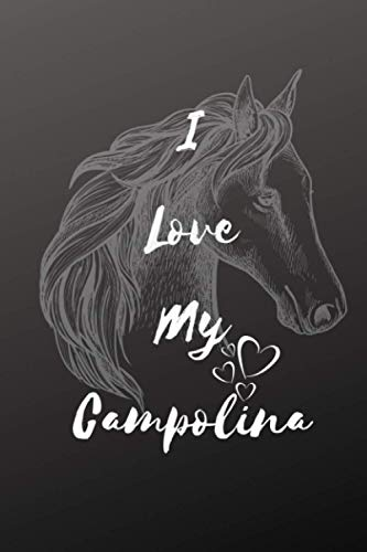 I Love My Campolina Horse Notebook For Horse Lovers: Composition Notebook 6x9' Blank Lined Journal