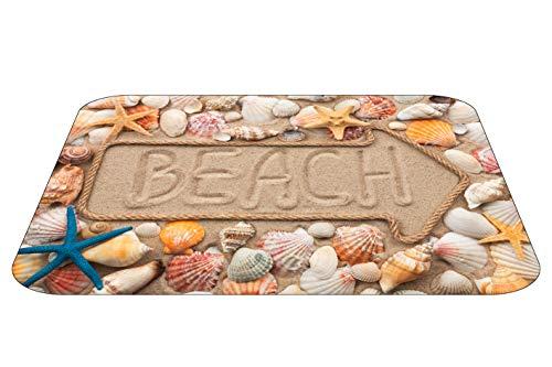 Papillon Beach Arrow - Tappetino da Bagno Super Assorbente, in Poliestere, Motivo: Freccia Che Indica la Spiaggia, Multicolore, 60 x 40 cm