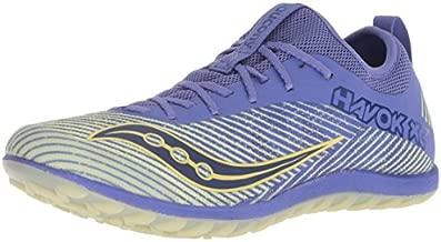 Saucony Women's Havok XC2 Flat Track Shoe, Purple/Yellow, 5.5 M US