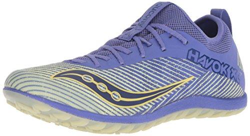 Saucony Women's Havok XC2 Flat Cross Country Running Shoe, Purple/Yellow, 5 M US