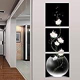 Yiwa - Juego de 3 pinturas de pared sin marco con...