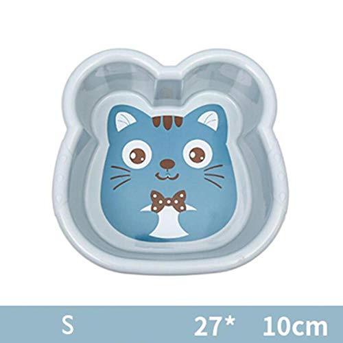 LIMMC Hot 1PC wastafel plastic schoteltje leuke karikatuur baby-wasgoed badkuip pasgeboren kind gezicht wast voeten badkuip baby-washtub 10300E, S-blauw