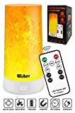 Bedside Table Lamp with Remote Control, Led Light Bulb Flame Simulation Projector, USB