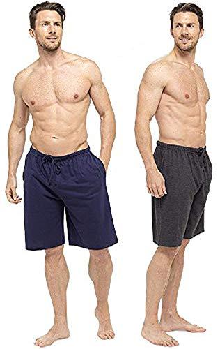 CityComfort Pantalones de Vestir Lounge para Hombre con Parte Inferior con puños o Pantalones Cortos Salón (XL, Armada y carbón)