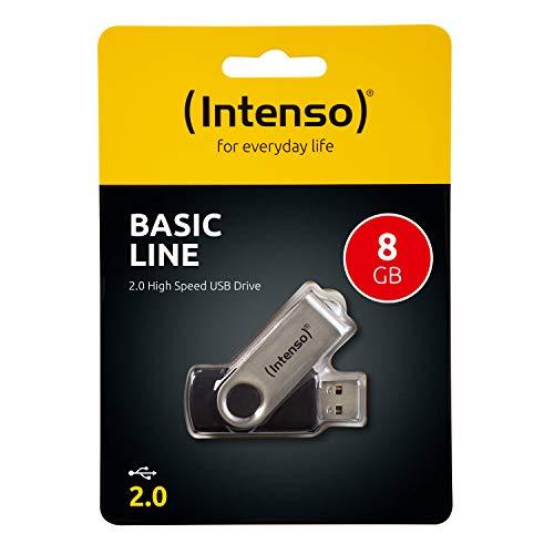 Intenso Basic Line 8 GB USB-Stick USB 2.0 silber-schwarz