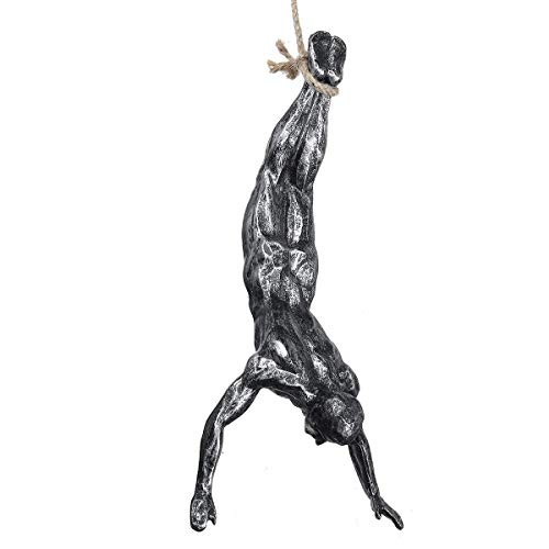 Montado en la pared Arte de arte decoración hechos a mano hombre global resina alambre de hierro creativo retro presente estatua decoración pared colgando decoración escultura figuras esculturas ornam