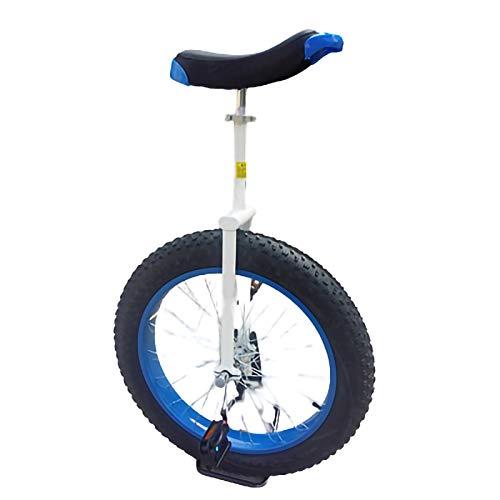 YYLL Einrad 20 Zoll einzelnes Rad Kind Erwachsene Einrad, Rad Trainer mit Einrad Ständer for Adjustable Gleichgewicht Übung Fun Bike Fitness (Color : B, Size : 20Inch)