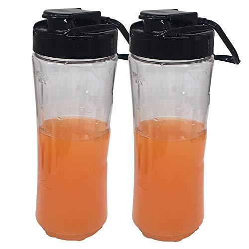 2pcs Replacement 20 oz bright Sport Bottle cup with lid for Oster MyBlend blender BLSTPB models and BLSTP2 models blender