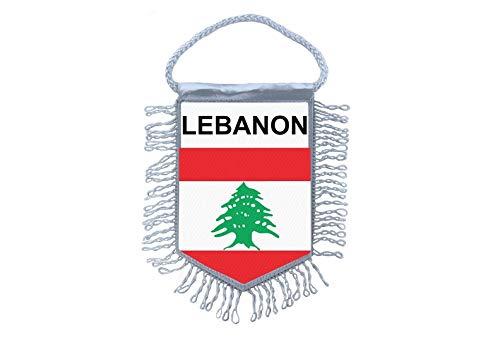 Akachafactory Wimpel Mini Flagge Fahne flaggen miniflagge libanon libanesische