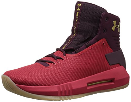 Under Armour UA Drive 4 - Zapatillas de Baloncesto para Hombre, Color Naranja (800), Color Rojo, Talla 45.5 EU