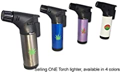Selling ONE GStar Butane Refillable Windproof Torch Lighter Available in 4 different colors Seller will randomly choose a color to ship Please contact seller if you have a color preference, Sellers will do their best to accommodate the color preferen...
