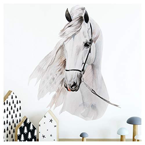 Little Deco Wandaufkleber Pferdekopf I A4 (BxH) 21 x 29,7 cm I Wandbilder Baby Deko Mädchenzimmer Babyzimmer Mädchen Kinderzimmer Wandtattoo Wandsticker Kinder DL176