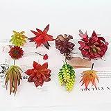 Plantas artificiales mezcladas de plantas falsas de plantas de bonsái mini planta artificial artificial decoración de la boda plantas falsas DIY