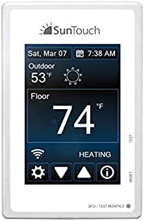 SUNTOUCH 81019075 SunStat Programmable Wi-Fi Connect Thermostat 120/240V, white