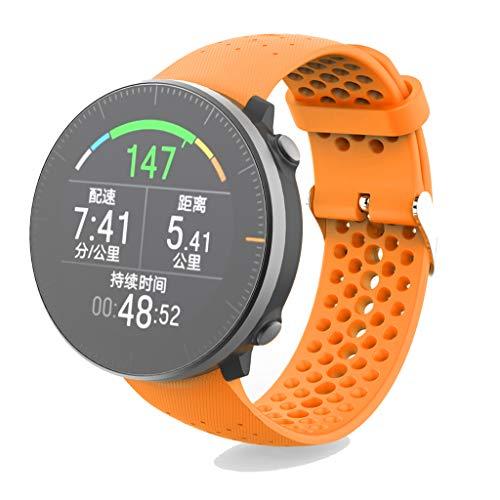 Dsxnklnd Pulseira unissex de silicone macio fashion esportiva pulseira de relógio pulseira de substituição para Vantage M