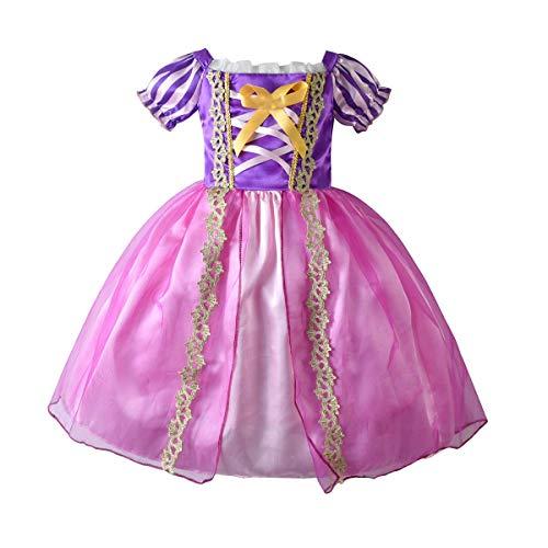IMEKIS Disfraz de princesa Rapunzel para nias con enredos de Sofa, vestidos de Navidad, carnaval, cosplay, boda, fiesta de cumpleaos, concurso, vestido de baile, festival, ropa de rendimiento