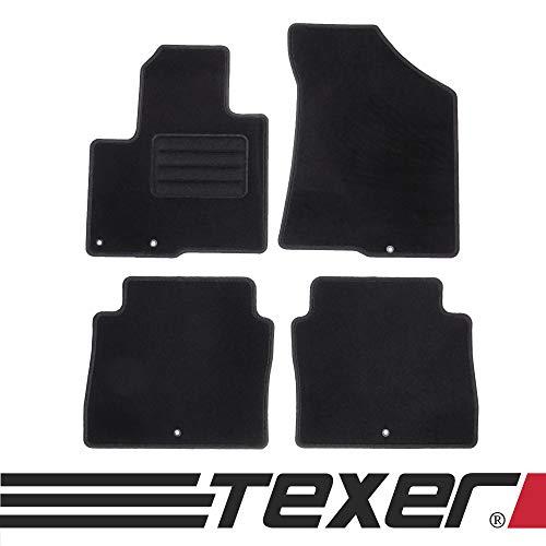 test TEXER Textilfußmatten sind für Hyundai Santa Fe II Bj geeignet.  2010-2012 Basic Deutschland