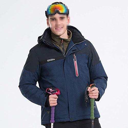 WAY Ski Jacke Navy-Blue Hooded Windproof Ski Jas Regenjas Winterjas voor Heren ***L marineblauw
