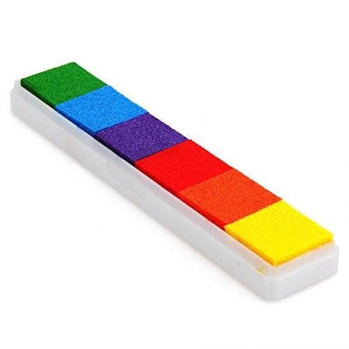 VivReal Stempelkissen Inkpad Stamp Pad Fingerdruck 6 Farben NICHT TOXISCH kindersicher