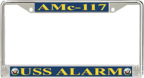Monitorloe USS Alarm Amc-117 License Plate Frame