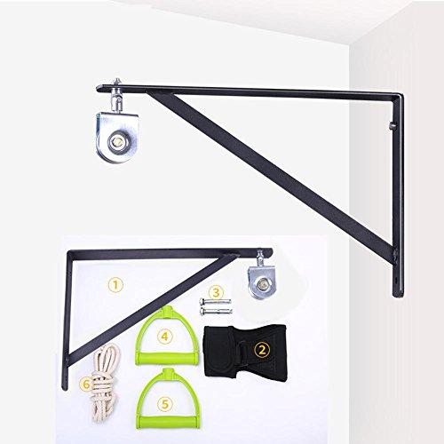 Mkuha Polea de Cuerda montado en la Pared,Cuerda elástica para rehabilitación de Hombro(una polea de Acero Inoxidable)