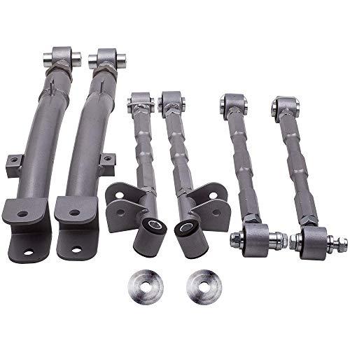 6 Pieces Rear Lateral Link + Trailing Arm for Subaru Impreza WRX STi GC8 GDA GDB 1993-2007